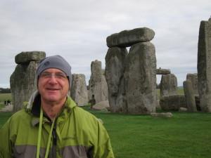 My sweetie at Stonehenge