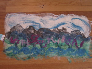Sequim Lavender Festival, Fabric/Fiber Art by Lauralee DeLuca of Phoenixx Fibers.