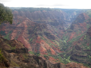"Waimea Canyon, the ""Grand Canyon"" of Kauai."